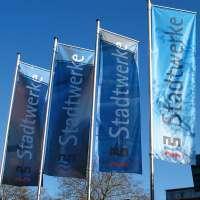 Firmenfahnen für die Stadtwerke Heidelberg