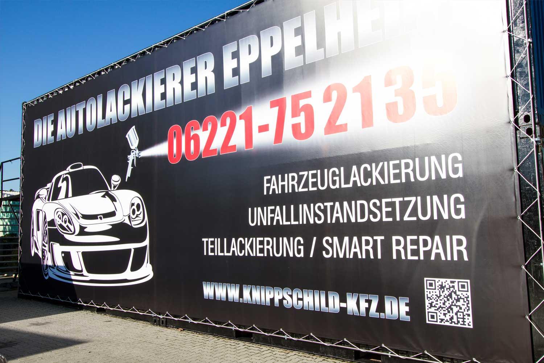 XXL-Werbebanner für die Firma Knippschild