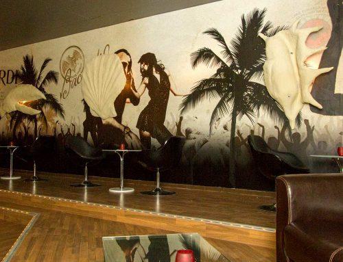 Fototapeten im Bacardi-Style für eine Bar