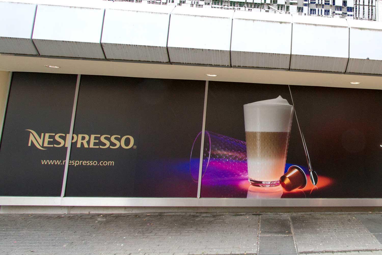 Schaufensterbeschriftung Nespresso