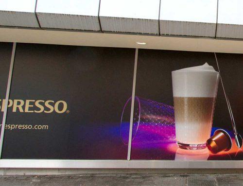 Schaufensterbeschriftung für Nespresso-Store