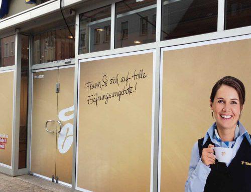 Schaufensterbeschriftung für Tchibo in Speyer