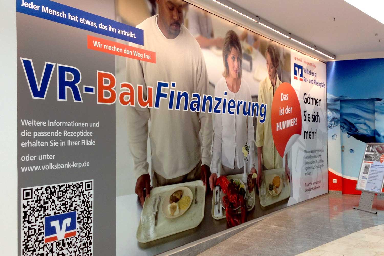Schaufensterbeschriftung Volksbank Speyer