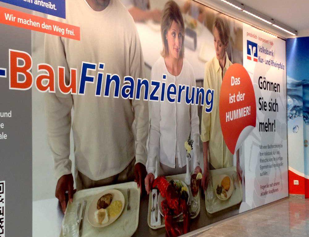 Folienbeschriftung für die Volksbank in Speyer