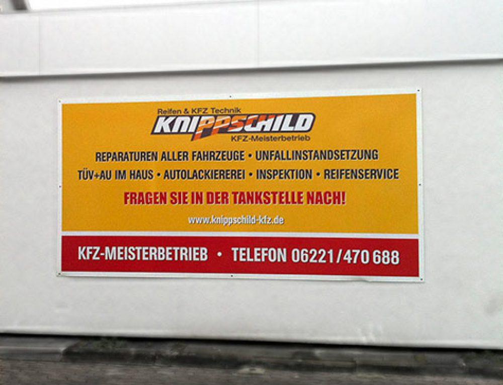 Werbeschilder für die Firma Knippschild