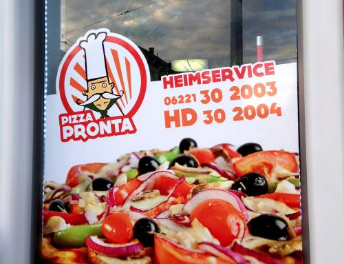 Folienbeschriftung für Pizza Pronta