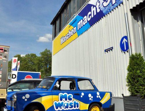 Firmenschilder für MC-Wash in Karlsruhe
