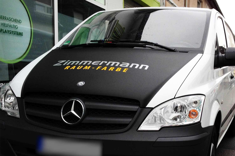 Fahrzeugfolierung Schwetzingen für die Firma Zimmermann