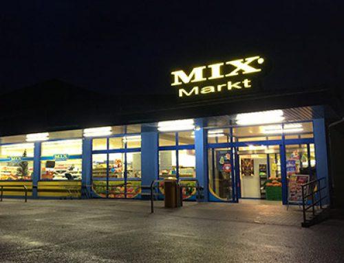 LED Leuchtwerbung für Mix Markt Mannheim