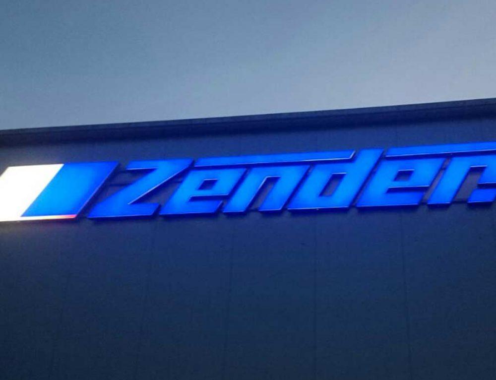 10m Leuchtreklame für die Firma Zender
