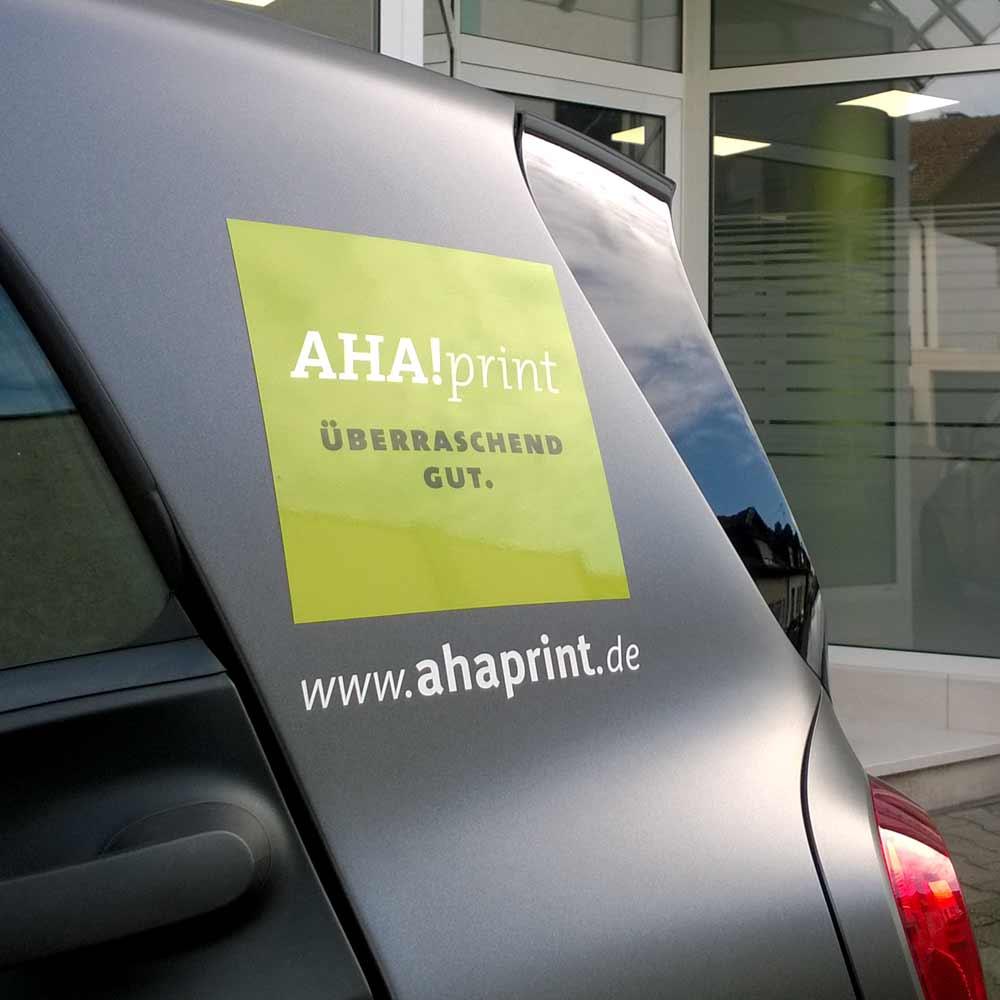 Fahrzeugbeschriftung AHA!print