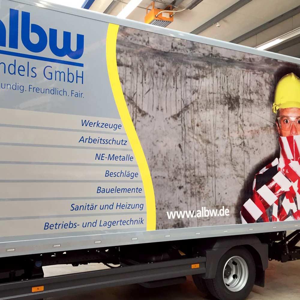 LKW-Folierung für die albw Handels GmbH