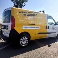 Fahrzeugbeschriftung für das Studentenwohnheim Adria
