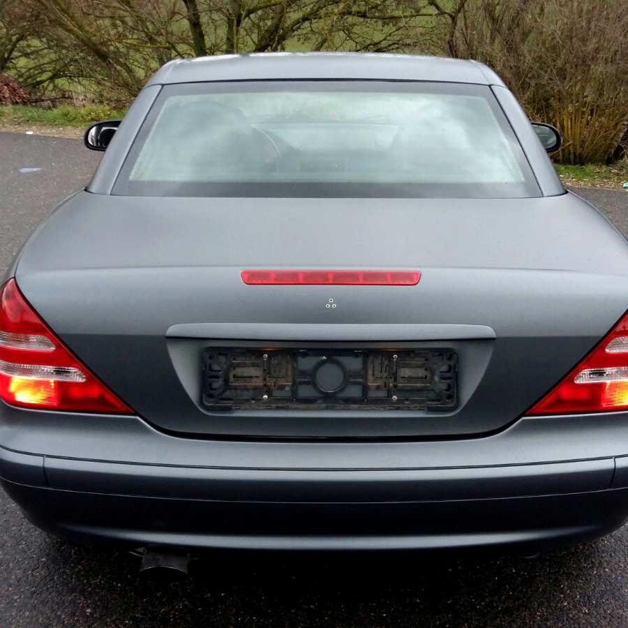 CarWrapping Mercedes Mattschwarz