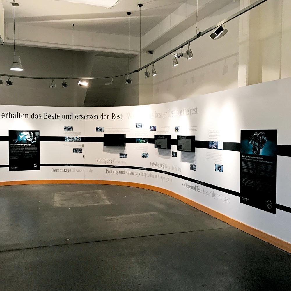 Messewandbeschriftung für Mercedes Benz