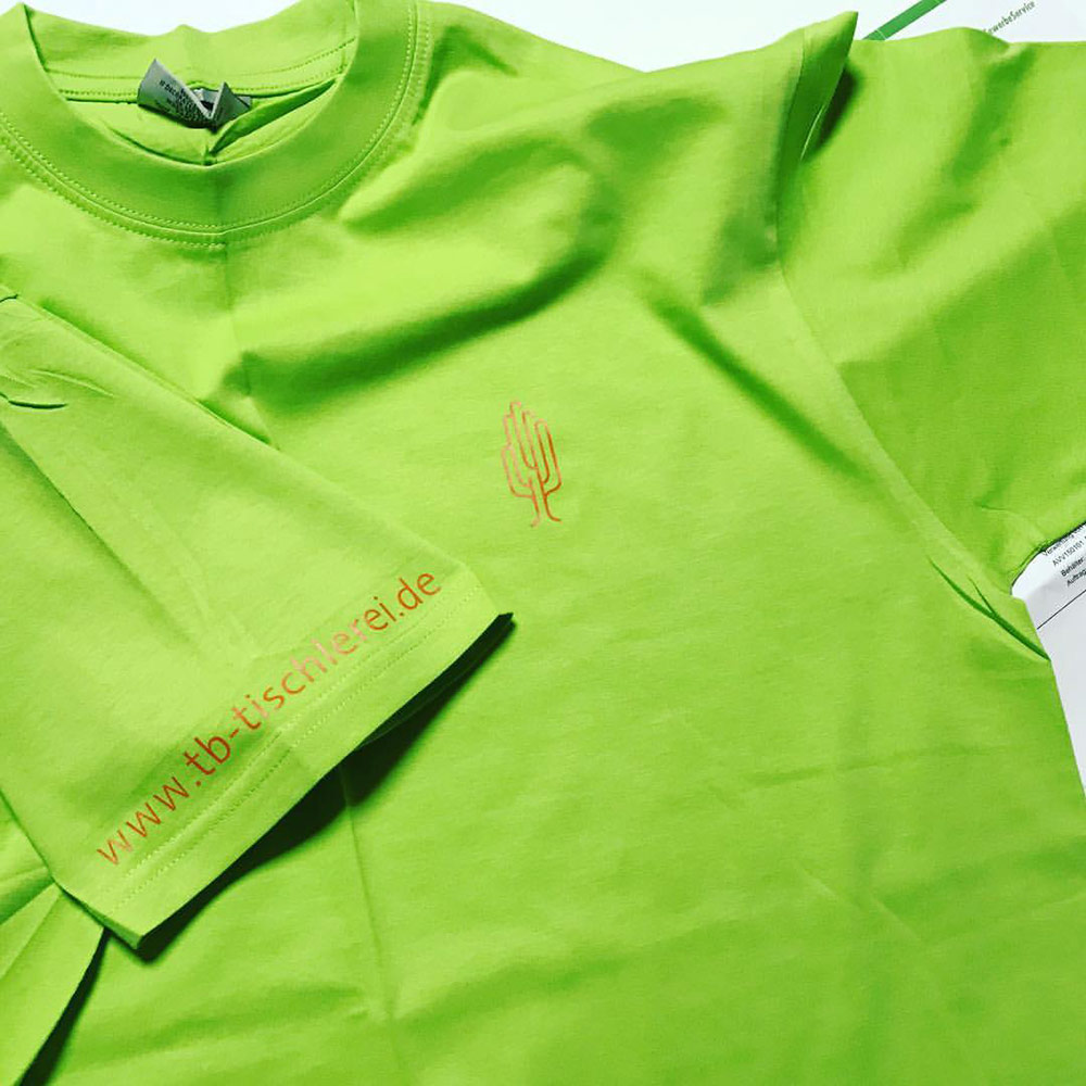 Textildruck T-Shirt Tischlerei
