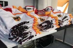 Textildruck Sportshirts Rugby