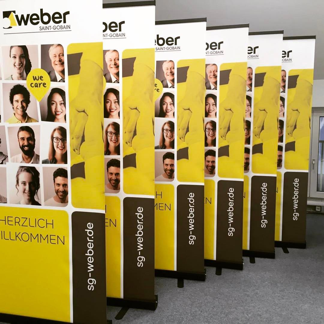 Roll-Up Displaybanner für SG Weber