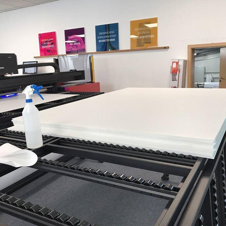 Plattendirektdruck Hohlkammerplatten