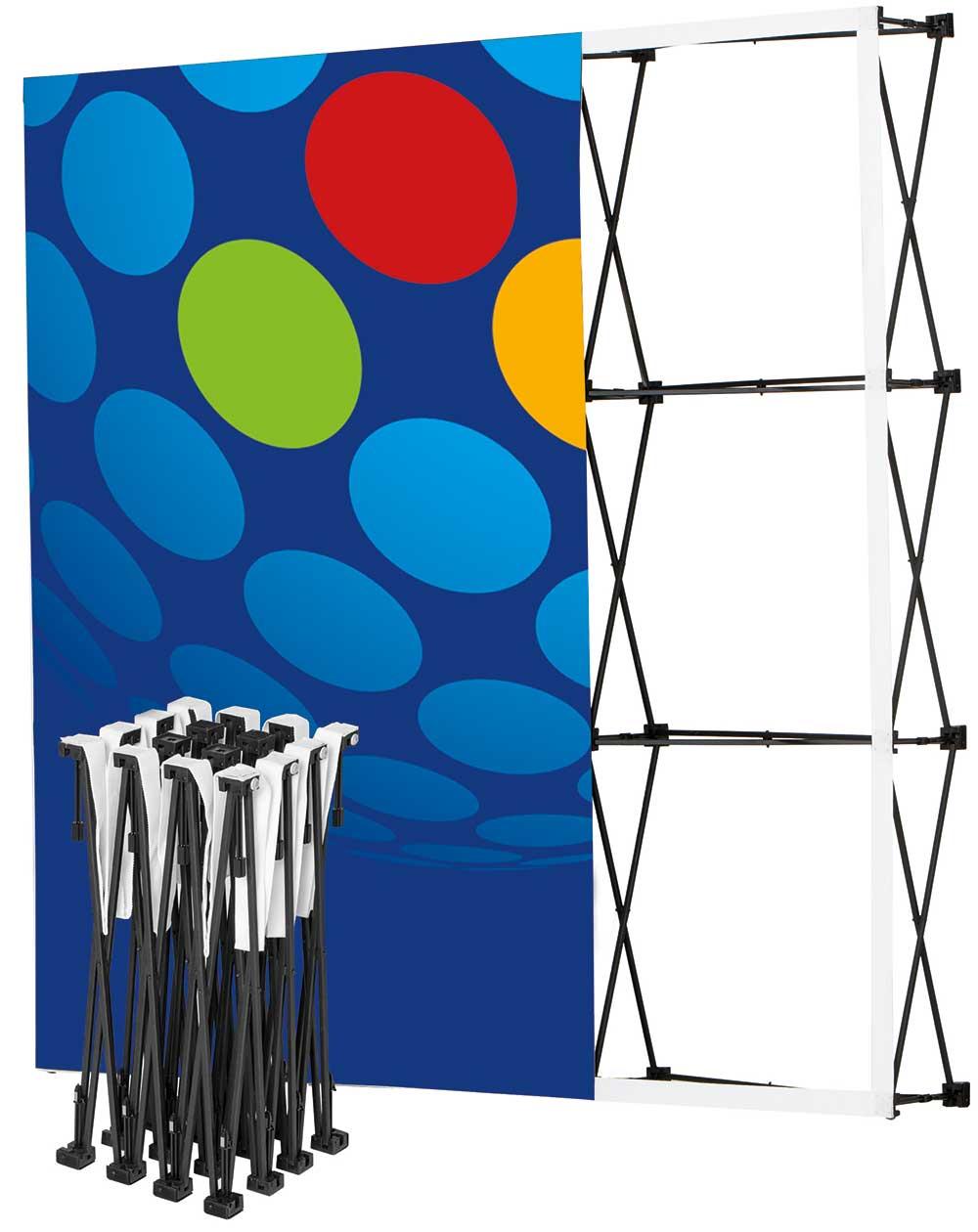 Messe-Faltwand Pop-Up Textil