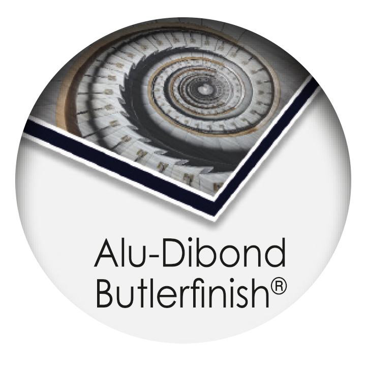 druck auf aludibond butlerfinish
