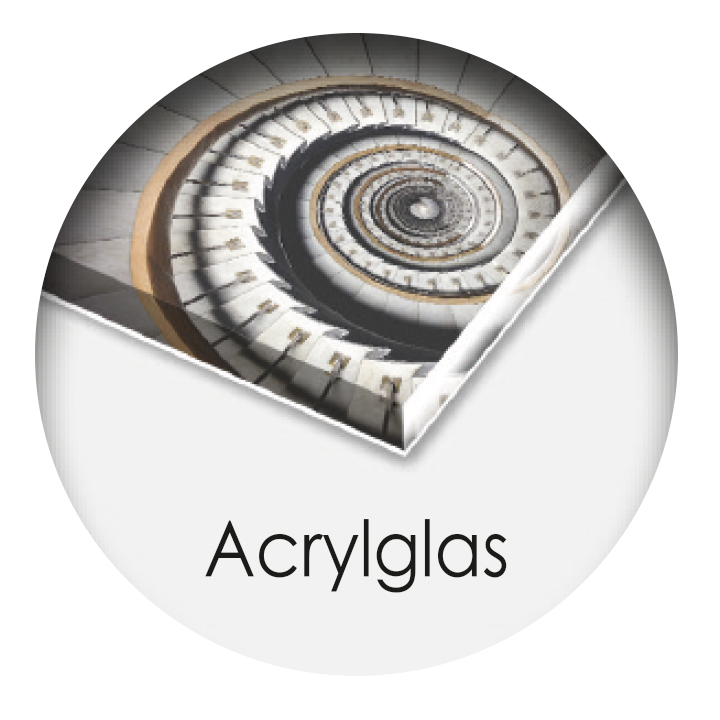 Druck hinter Acrylglas