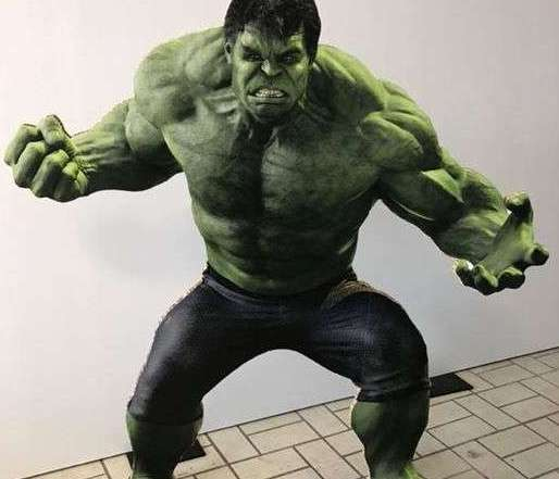 Hulk Figur aus Reabord